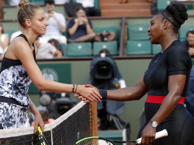Serena Williams defeated Kristyna Pliskova of the Czech Republic.