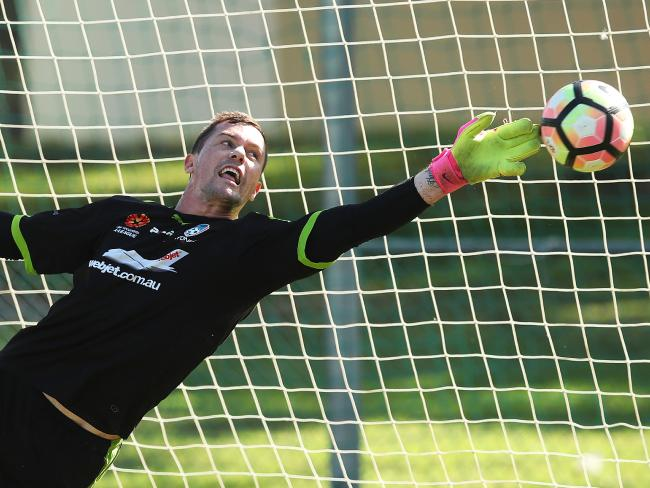 Danny Vukovic at full stretch. Picture: Phil Hillyard