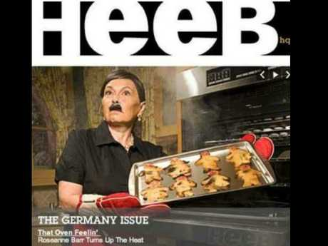 Roseanne Barr previously posed as Adolf Hitler for Heeb Magazine, and yet was still making huge money. Until now. Picture: Heeb Magazine