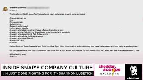 The email was sent to around 1300 employees. Picture: Cheddar