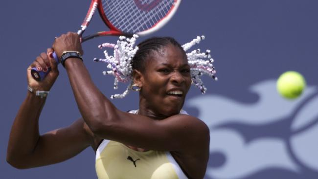 Serena won her first grand slam title in 1999 with a look that featured beads in her hair.