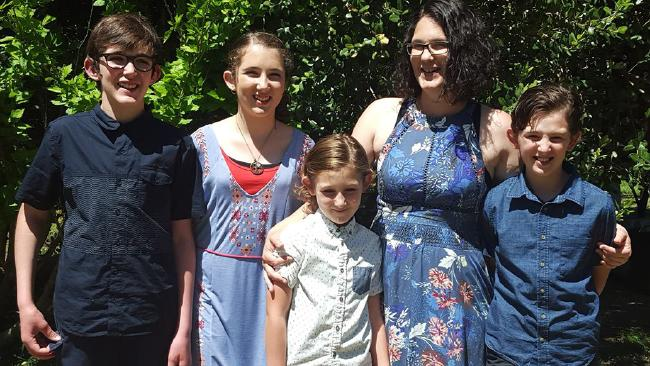 Margaret River murder-suicide victims, Katrina Miles and her four children.