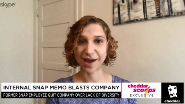 Former Snap employee Shannon Lubetich. Picture: Cheddar
