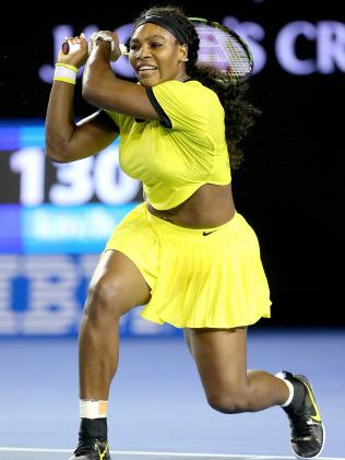 Serena doesn't mind the bright colours. Picture: Mark Stewart