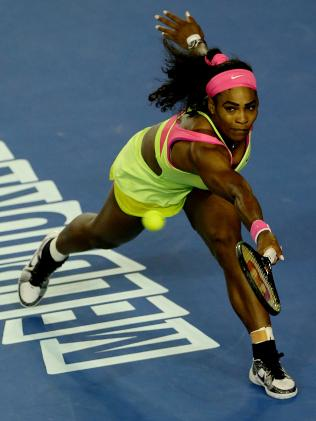 How about the 2015 Australian Open? Serena was best dressed in a fluoro Nike dress. Picture: Mark Stewart