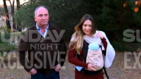 Former Deputy Prime Minister Barnaby Joyce and his partner Vikki Campion have given a tell-all interview that will be screened on Channel 7's Sunday Night program, amid speculation that Mr Joyce may quit politics. Picture: Channel 7 Barnaby takes personal leave after mega TV deal