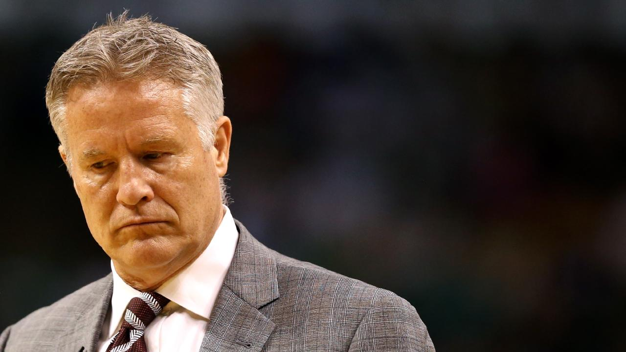 Brett Brown, head coach of the Philadelphia 76ers.