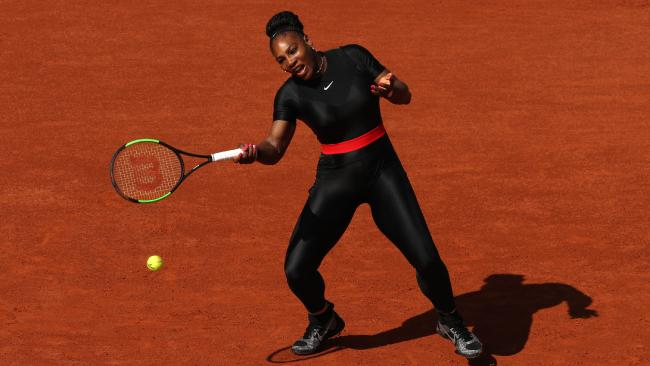 Serena's French Open look, inspired by the Black Panther, also had a deeper meaning behind it. Picture: Getty