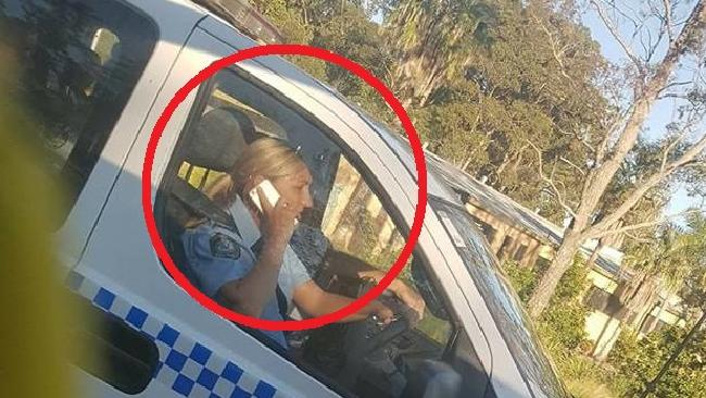 Copper on the phone Wyong road