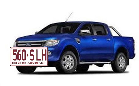 Blue 2012 XLT Ford Ranger, registration number  560SLH, similar to this.