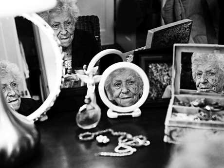 Anne-Marie Pronovost, was 100 years old when photographed. When I was young I had long hair, nice legs and curves. Young ladies today all strive to be skinny, but I think that real beauty is natural beauty. We are who we are, and that's all that matters.