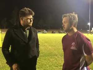 Derek Brady discusses the game versus Toowoomba Valleys with the Dalby Herald