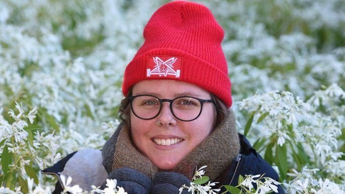 Start of winter - Jaclyn Kiorgaard amongst the