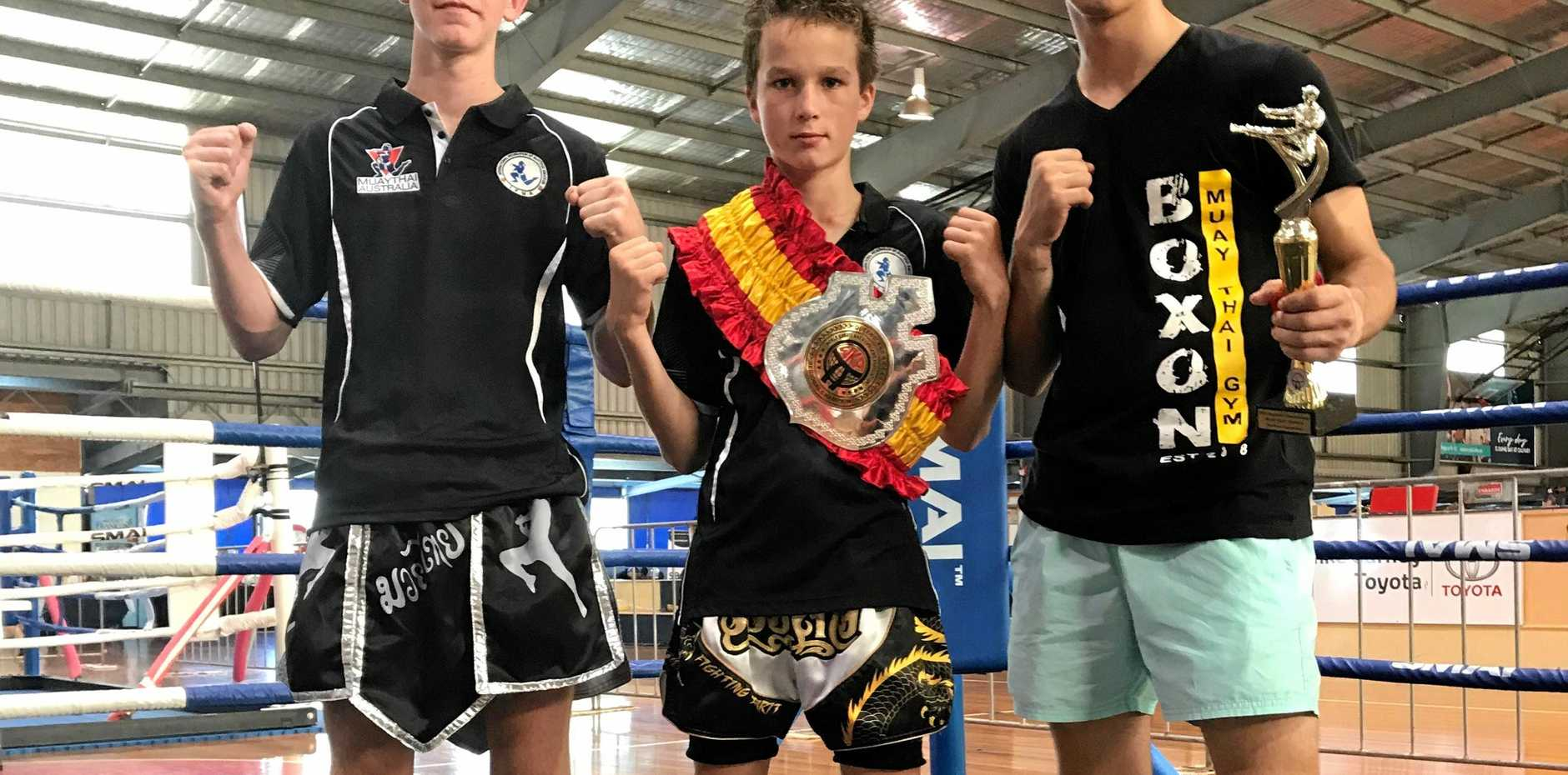 Boyce Miosge, Jye Van Polen, and Bailey Pace fought hard in Townsville earlier this month and ready for their next fights.