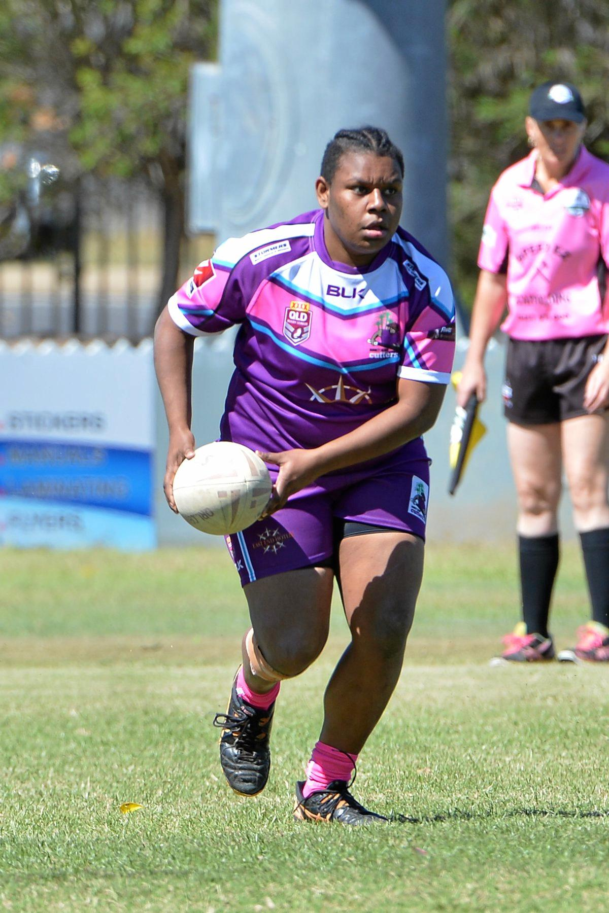 WOMENS LEAGUE: Layla Fauid at Salter Oval in Bundaberg.