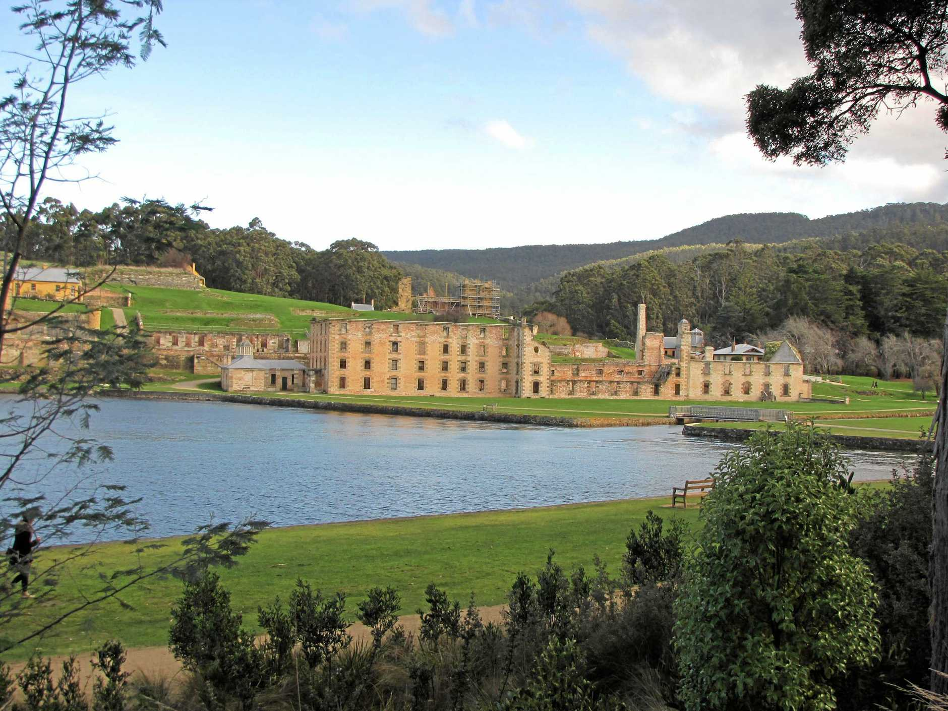 Karen Holmes Weekend. The penitentiary at Port Arthur which was built in 1857. During its time, it had three floors, the two lower floors had 136 cells while the top floor housed 480 convicts.