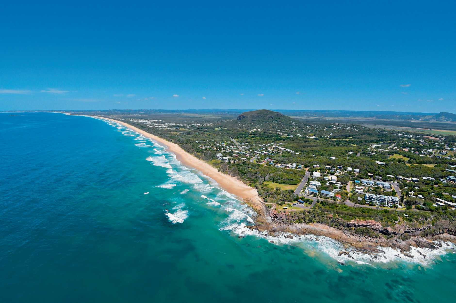 Aerials of the Sunshine Coast taken on Thursday 23 October, 2014 for advertising feature:Point Arkwright at Yaroomba. Mount Coolum and Palmer Coolum Resort in background. Also the site of the proposed Sekisui development.Photo: Brett Wortman / Sunshine Coast Daily