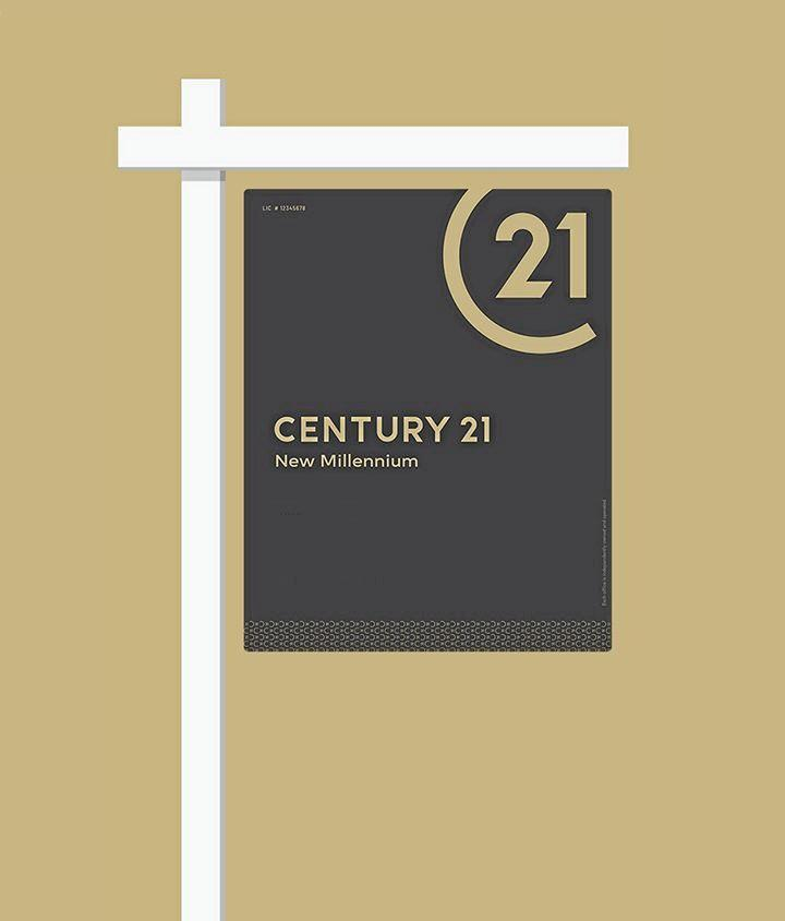Examples of the new minimalist Century 21 branding which will be officially launched next week at the Australia-wide seminar.