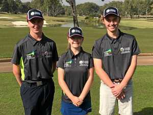 Junior golfers show their skills as a team
