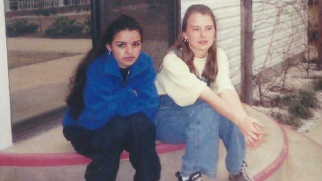 Pebbles Rodriguez and Amy Eddy were just 12 and 13 respectively when they were forced to marry deranged cult leader Tony Alamo, a man in his 60s. Picture: Investigation Discovery