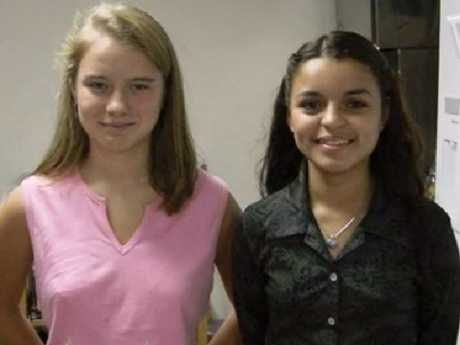 Amy Eddy (left) and Pebbles Rodriguez were just 14 and 12 respectively when they were forced to marry deranged cult leader Tony Alamo, a man in his 60s. Picture: Investigation Discovery