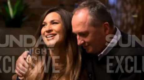 The couple is 'very much in love', according to interviewer Alex Cullen. Picture: Channel 7.