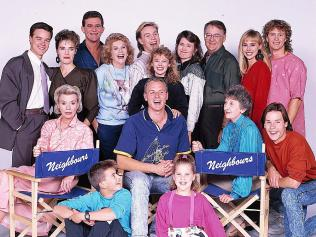 The 1987 cast including Dennis, Minogue Pearce and Donovan.