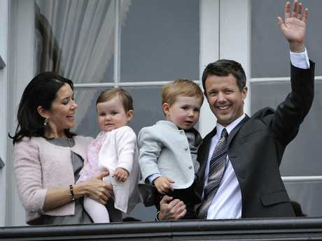 A very young Princess Isabella and her big brother Prince Christian celebrate Prince Frederik's 40th birthday in 2008. Credit: AFP PHOTO/Scanpix Denmark/Keld Navntoft