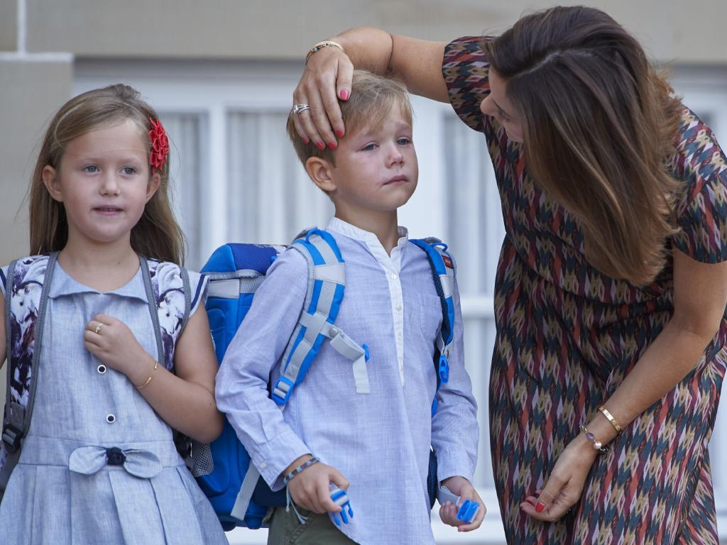 Prince Vincent however, had a teary first day of school.