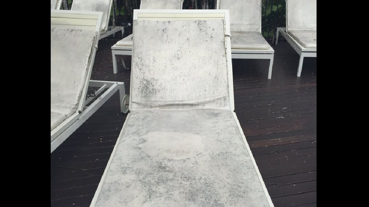 … versus what it is claimed they got. Mould ridden loungers. Picture: Trip Advisor