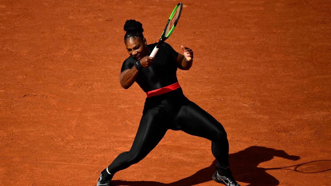 Serena Williams beat Kristyna Pliskova  in her first round clash.