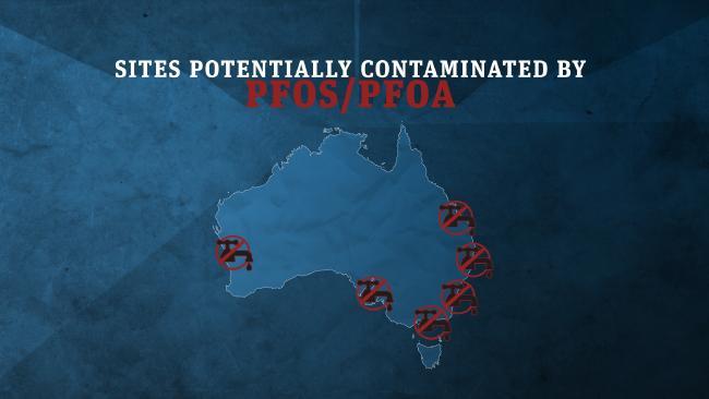 Sites around Australia contaminated by PFOS and PFOA.