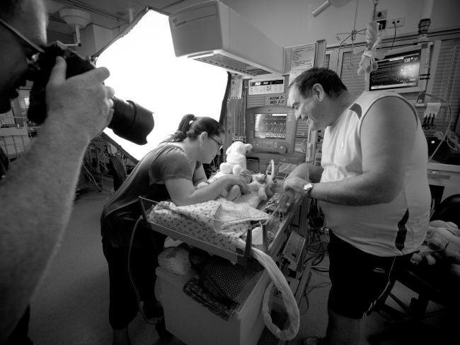 Heartfelt president Gavin Blue with his wife and stillborn daughter Alexandra. Picture: Heartfelt