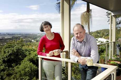Judge John Robertson and his wife June Redman at home, enjoying his first week of retirement.