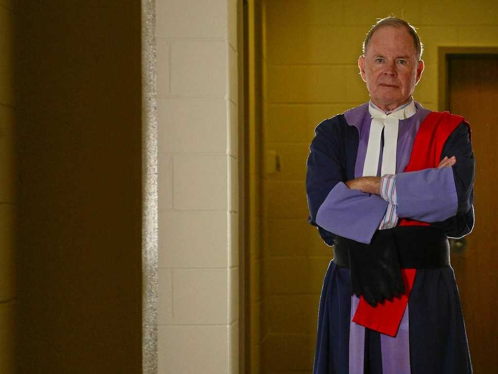 ONE FINAL WALK: Judge John Robertson in his last week at Maroochydore courthouse before retiring.