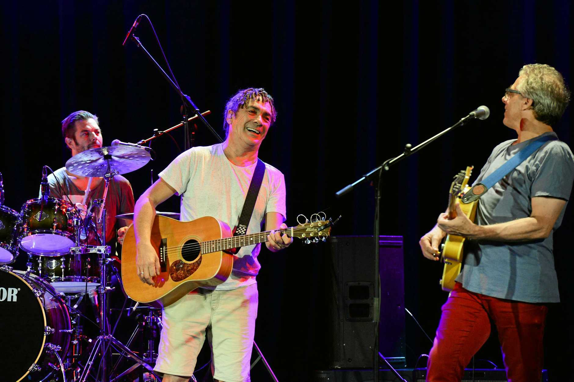 Classic Aussie rock band Dragon performed at the Ipswich Civic Centre last night. Pictured here during sound-check before the gig.