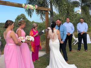 No bridezilla at Calliope couple's stress free wedding day