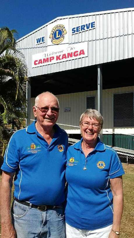 HAPPY CAMPERS: Kamp Kanga managers Gordon and Diane Bailey welcomed the first campers back since Cyclone Debbie.