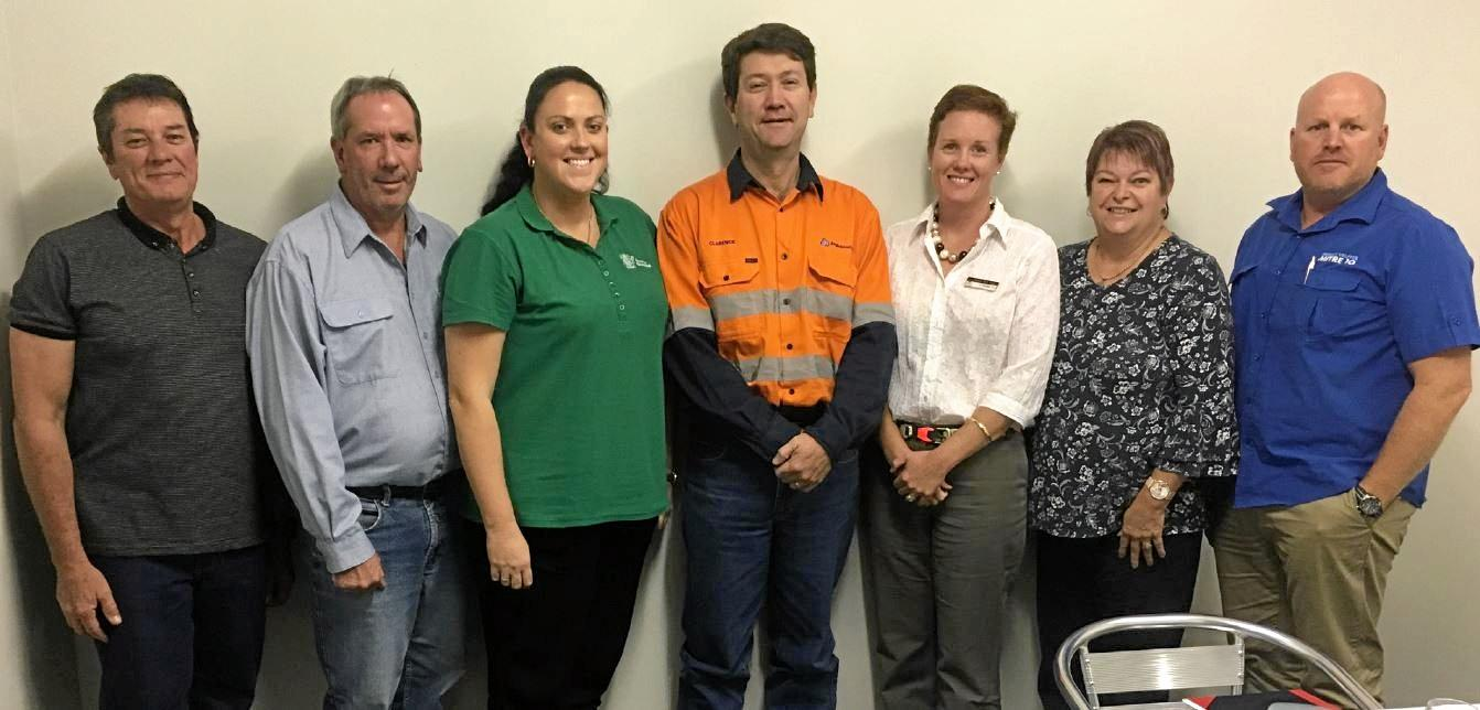 Members of the Dawson Community Reference Forum at the establishment meeting (left to right): Pat Hollands, John Walker, Kristee Sutton, Clarence Robertson, Brooke Leo, Debbie Elliott and Aron Lang.