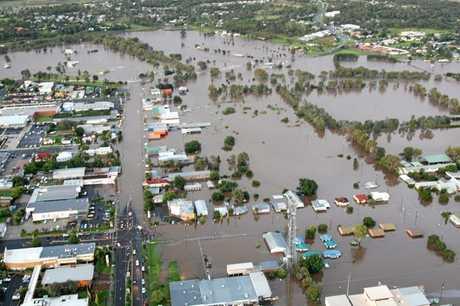 Warwick floods in 2011.