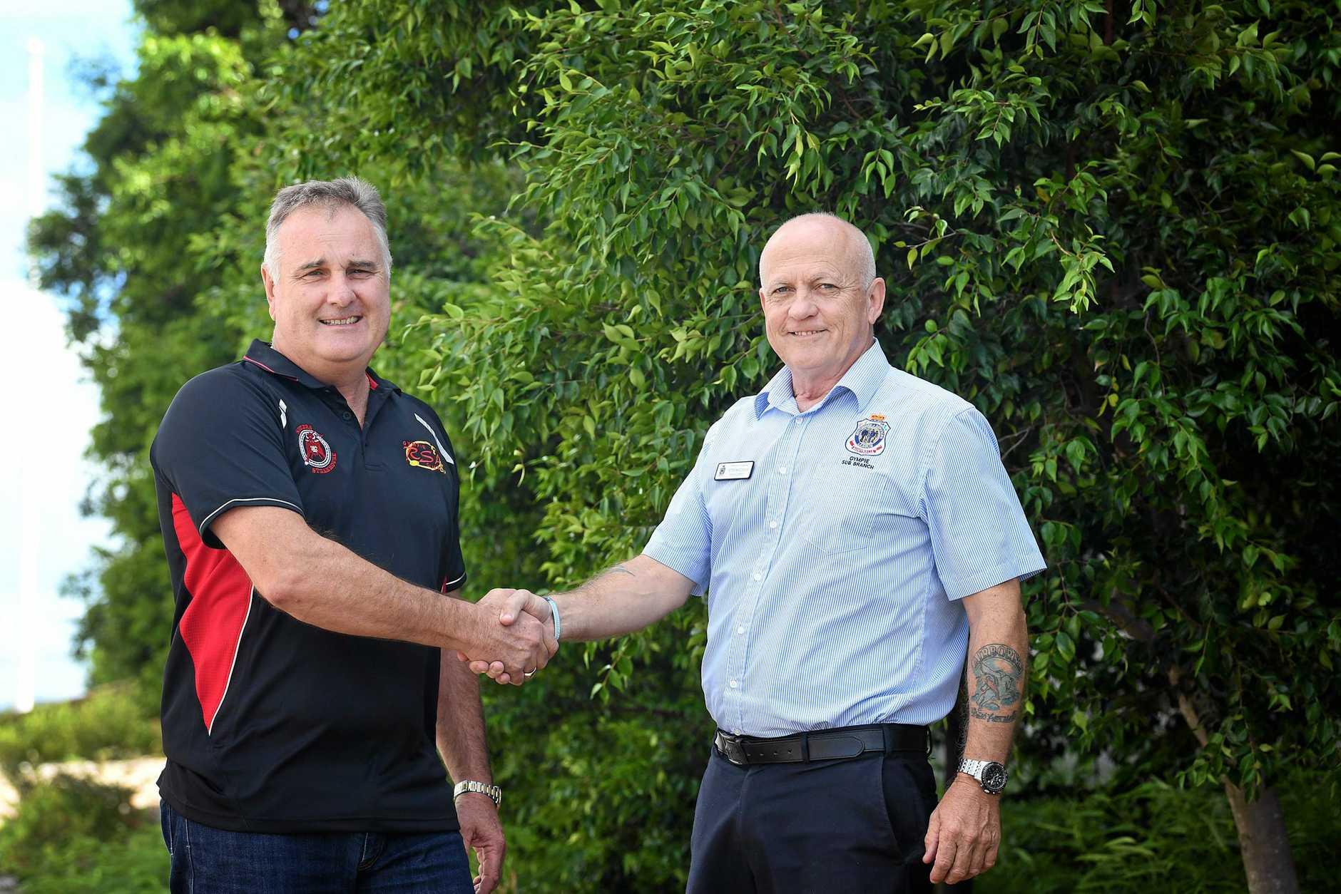 RSL club chairman Glen Shepherd and Sub Branch president  Peter Maddox .