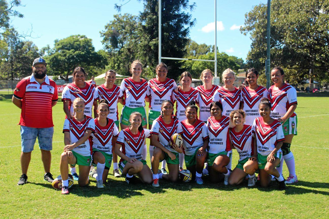 The South Grafton Rebels league tag side poses for a photo before their opening round clash against Grafton Ghosts.