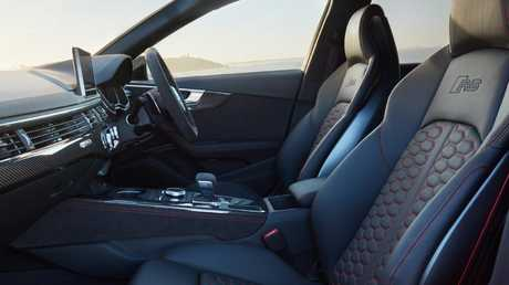 Pampered performance … the new Audi RS4 has massage seats. Picture: Supplied.