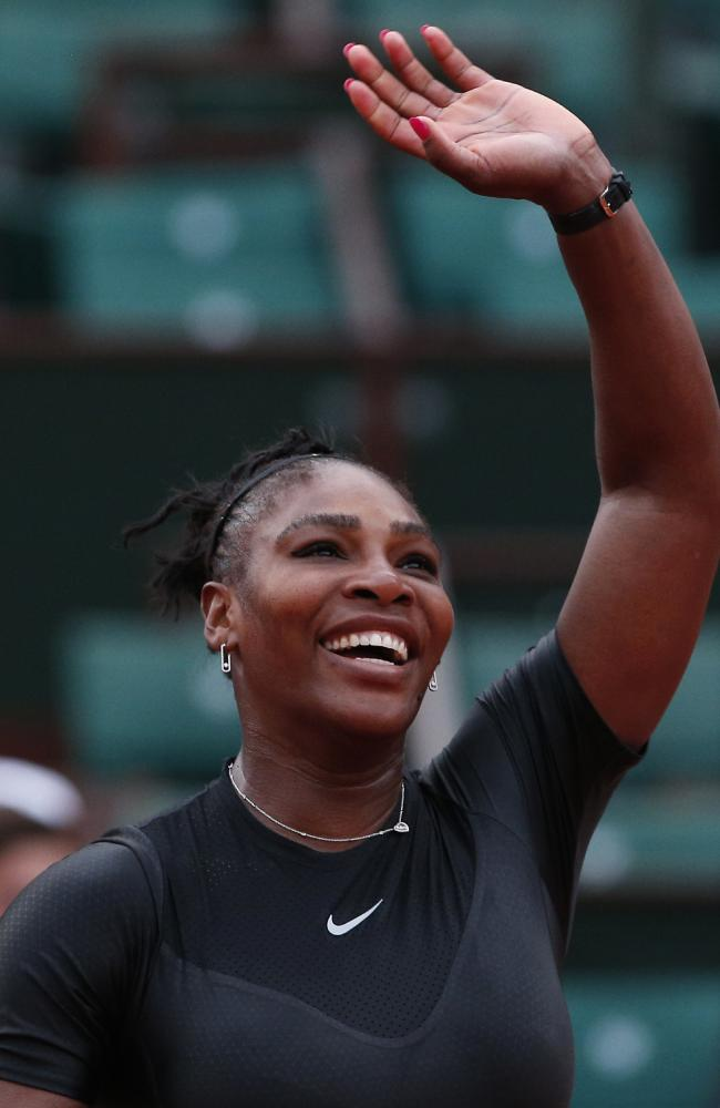 Serena Williams turned on the style in the third set.
