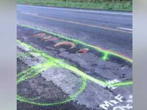 Man uses penises to solve pothole problem, Govt unhappy