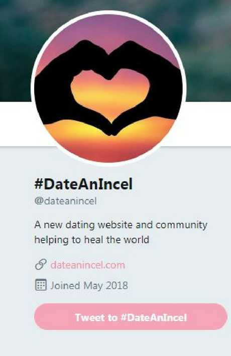 The Twitter page of #DateAnIncel. Picture: Twitter