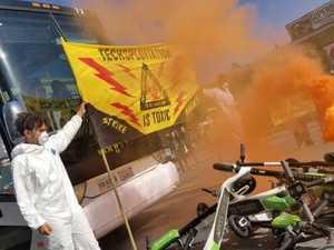 'F**k Google': street protest erupts