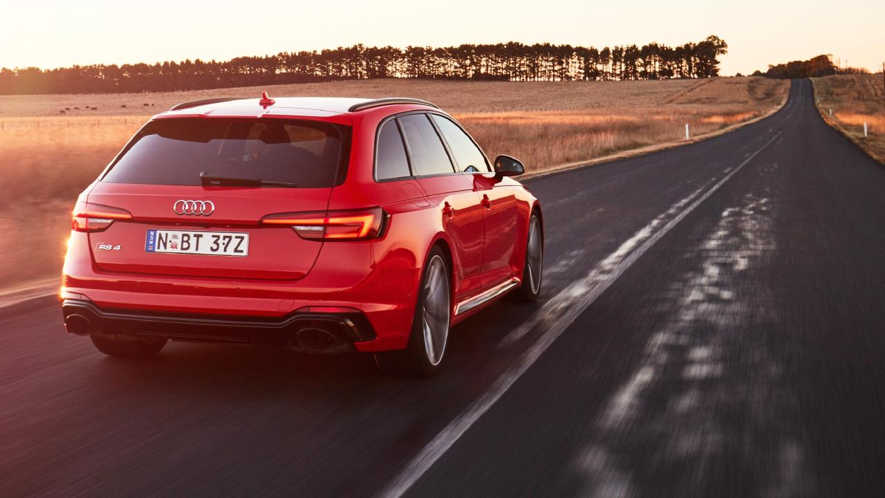 The new Audi RS4 has epic performance but it's more subdued than its RS stablemates. Picture: Supplied.