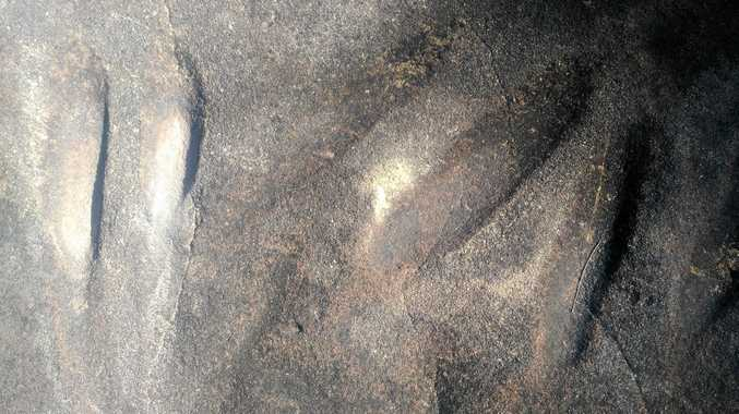 SACRED: The grinding grooves near Inglewood are at least centuries old and have spiritual and cultural significance to Bigambul traditional owners.