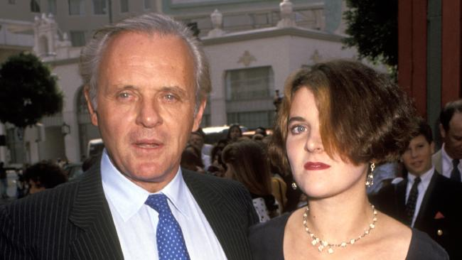 Sir Anthony Hopkins recently spoke about his long estrangement from his daughter Abigail Hopkins (pictured with him in 1991). (Pic: Ron Galella, Ltd./WireImage)